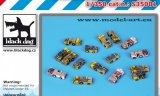 1:350 Deck tractors accessories set (Black Dog S35001)